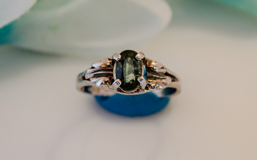 Sterling Silver Montana Oval Sapphire Ring 1 Sapphire Mine